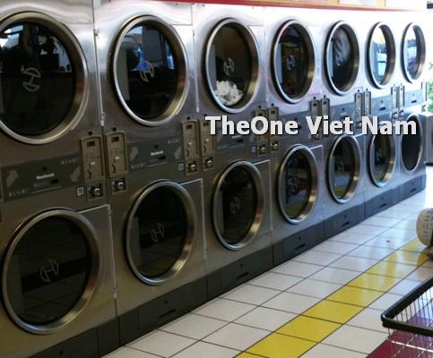 bố trí máy giặt khô, ướt trong xưởng giặt công nghiệp