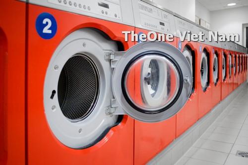 cách bố trí máy giặt là ủi trong cửa hàng giặt là