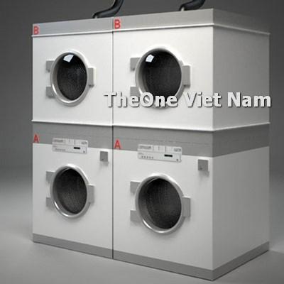 cách bố trí máy giặt là ủi trong cửa hàng giặt chuyên nghiệp