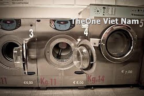 sắp xếp máy và thiết bị giặt là công nghiệp
