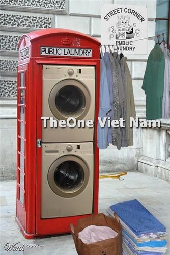 thiết kế không gian trong xưởng giặt là