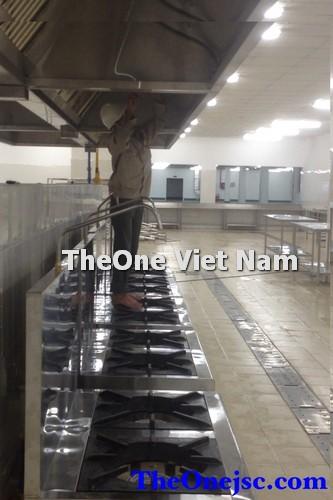 Khu bếp inox Nhà máy đóng tầu daimen sông cấm