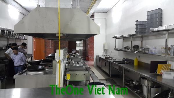 Chuyên thi công bếp công nghiệp inox